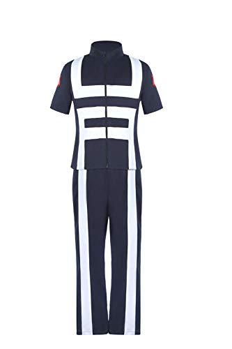 CR ROLECOS BNHA MHA Gym Uniform UA Training Uniform Deku Cosplay PE Outfit XL Navy Blue
