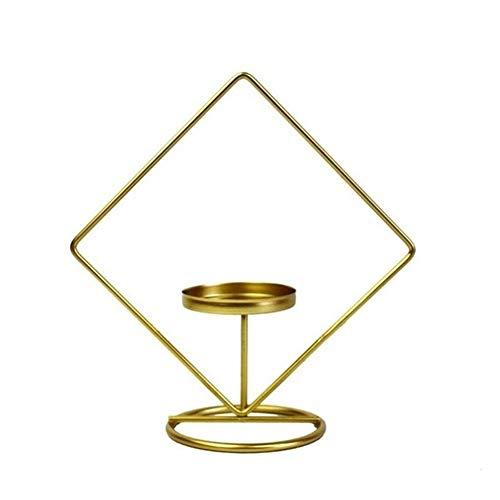Kandelaars Voor Tafel Scandinavisch Ijzer Geometrische Kandelaar Kandelaars Bruiloftdecoratie Tafel Kaarslichtdecoratie Sfeer Theelicht (Kleur: Ronde Vorm)