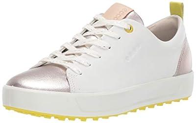 ECCO Women's Soft Hydromax Golf Shoe, White m, 11-11.5
