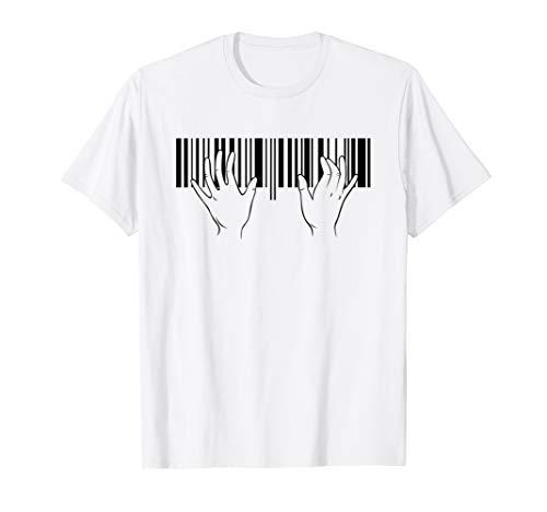 Klavier Geschenk für Pianist Musiker I Klavierspieler T-Shirt