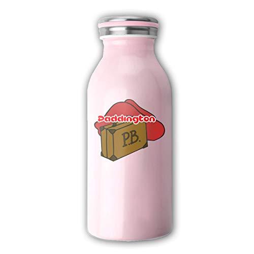 MIKAL(ミカオ) 真空断熱 マグボトル 牛乳瓶 保温 保冷 水筒 スクリュー式 350ml 野球 くまのパディントン ミルク ステンレスマグボトル おしゃれ 2色 タンブラー 魔法瓶 抗菌仕様 オフィス ギフト 贈り物