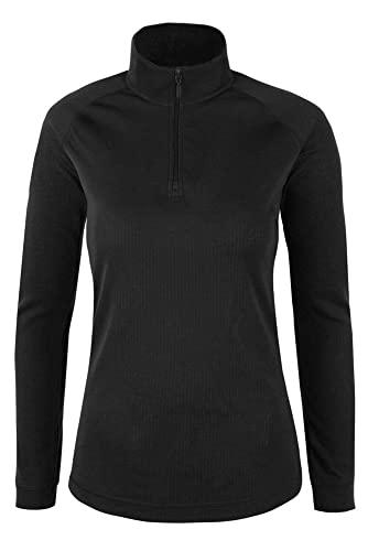 Mountain Warehouse Top térmico Interior de Manga Larga Talus para Mujer - Camiseta térmica cálida, Camiseta Ligera, Transpirable, Cuidado fácil, Invierno Negro 42