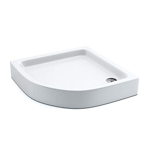 AQUABAD® Duschwanne Comfort Forta Plus 80x80cm Viertelkreis R55
