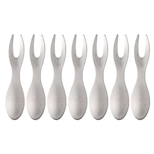 HEMOTON 7 tenedores de acero inoxidable para cócteles de maíz, tenedores de postre, para ensalada, pastel, aperitivos, brocheta de queso, para Halloween, Navidad, fiesta festiva