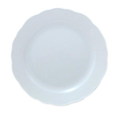 Hutschenreuther Maria Theresia Assiette Petit-Déjeuner, avec Aile, Porcelaine, Blanc, Passe au Lave-