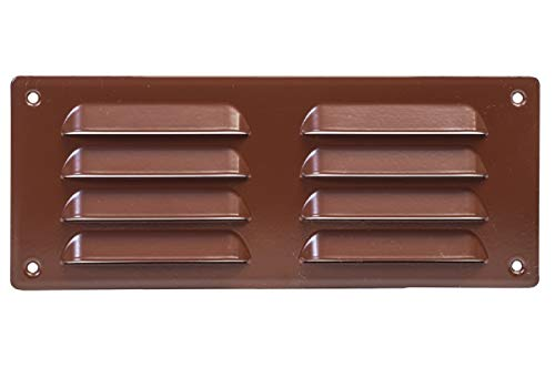 260x105mm (10x4 inch) Air Vent Grille Cover BROWN Ventilation Cover, Metal, with Insect Protection , mr26105b