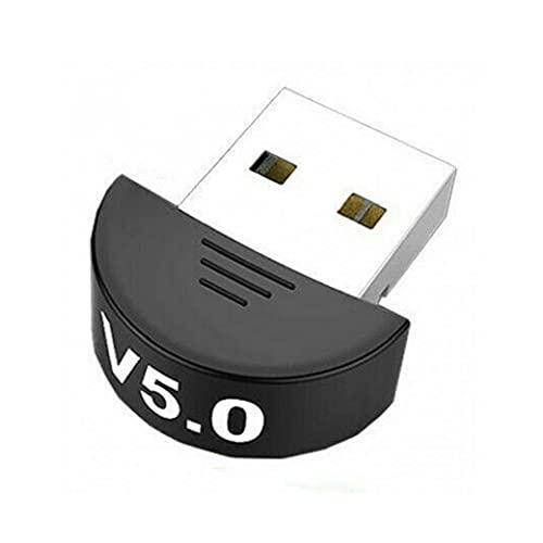 FeelMeet Dongle Bluetooth inalámbrico Receptor Transmisor Adaptador Bluetooth 5.0 USB Bluetooth para el Audio de la PC TV Negro