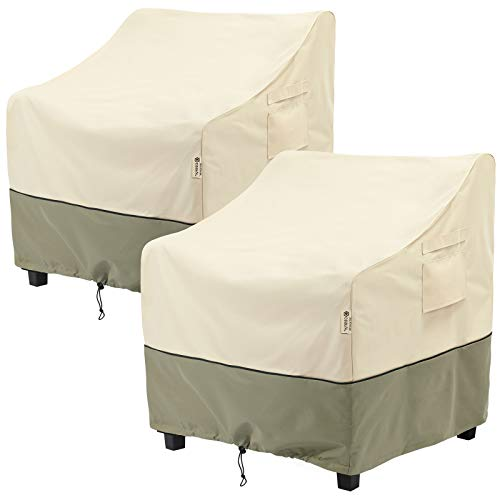 COSFLY Outdoor Furniture Patio Chair Covers Waterproof Clearance, Lounge Deep Seat Cover, Lawn Furnitures Covers Fits up to 33W x 34D x 31H inches(2 Pack)