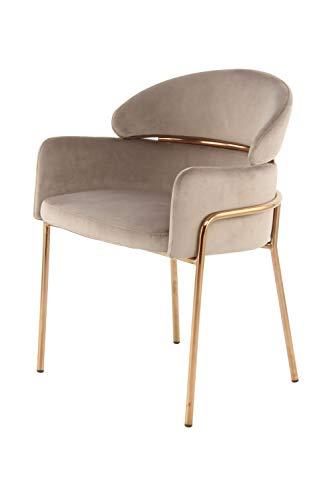 One Couture Silla de Comedor, Taupe/Roségold, 57 x 58 x 79