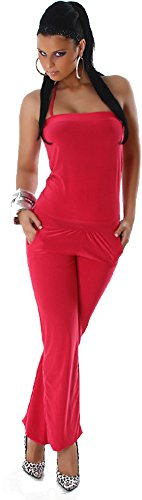 Unbekannt Overall Jumpsuit Neckholder Pink Einheitsgröße S-M