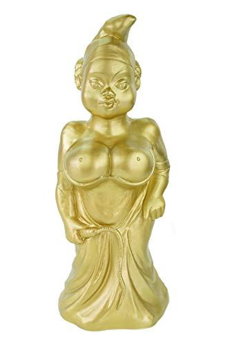 RAKSO Gartenzwerg Herrin goldfarben Made in Germany Figur Gold Zwerg Gartenfigur Domina