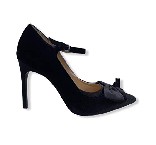Liu Jo S68067 Mary Jane - Zapatillas de raso negro con lazo, 10 cm, talla 39, color negro