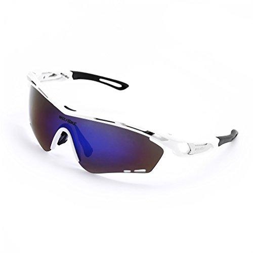 OUTAD Gafas de ciclismo (Blanco)