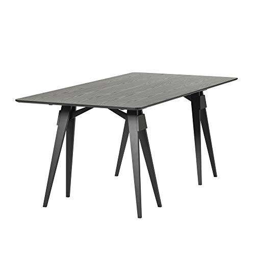 Design House Stockholm Arco matbord 180 x 90 x 74 cm, svartbetsad bordsskiva 2 cm LxBxH 180 x 90 x 74 cm hylla lackerad
