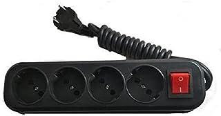 مشترك كهرباء 4 فيشة 3م مع مفتاح قطع تيار