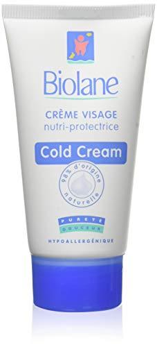 Biolane - Crème Visage Nutri-Protectrice pour Bébé - Cold Cream pour le Visage des Bébés - Hydrate et Nourrit la Peau - 50ml