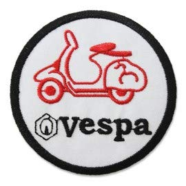 VESPA LOGO 7,6 CM Parche, Parches Termoadhesivos,Parche Bordado Para la Ropa Termoadhesivo