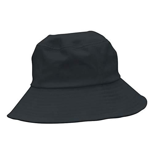 Sombrero clsico de Fieltro de Color slido para Mujer, Sombreros Femeninos de ala Ancha para Mujer, Gorra Plana de Jazz, Sombrero de Cubo, Invierno, Primavera, Verano-Styel 5 Black