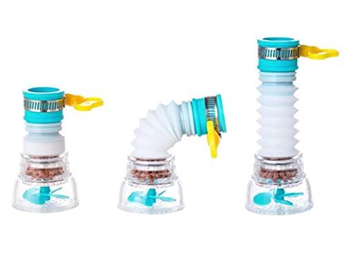 Purificador de Agua Grifo Cocina Ahorro de Agua, Filtro de Agua para Grifo, Purificador de Agua Ajustable, Purificador de Agua Doméstico, Purificador de Agua Portátil, Filtro de Agua Instantáneo