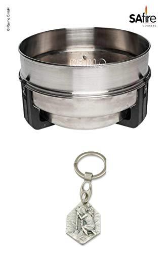 Zisa-Kombi SAFire Grill Erweiterung (93298891664) mit Anhänger Herz Jesu 2,5cm