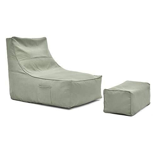 Sedie Bean Bag Sedia Divano Posto A Sedere, Reclinabile Highback Sdraio E Sgabello Sacchi di Fagioli ZX Casa Poltrone (Color : Blue 1)