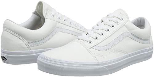 Vans Old Skool, Zapatillas Unisex Adulto, Blanco (True White W00), 43