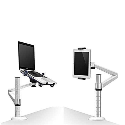 Accesorios para Laptop Aluminio 360 Rotación 2 en 1 Tablet PC Soporte de PC + Soporte portátil Soporte Doual Brazo Oficina Soporte de Escritorio Accesorios de computador