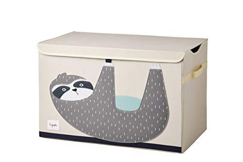 3 Sprouts Kinderspielzeugkiste - Aufbewahrungskoffer für Jungen und Mädchen, Elefant3 Sprouts - Spielzeugtruhe für Kinder - Ablagetruhe für Jungen- und Mädchenzimmer, Faultier