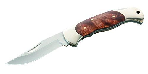 Herbertz Unisex– Erwachsene Messer Taschenmesser Wurzelholz Länge geöffnet: 21.3 cm, grau, M