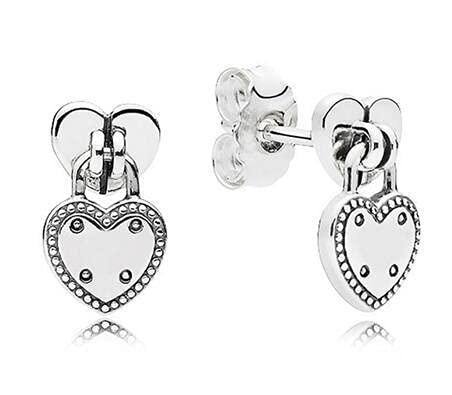 NIUBKLAS Pendientes de plata de ley 925 con globo de aire y corazón para mujer, regalo de boda, joyería de moda 3