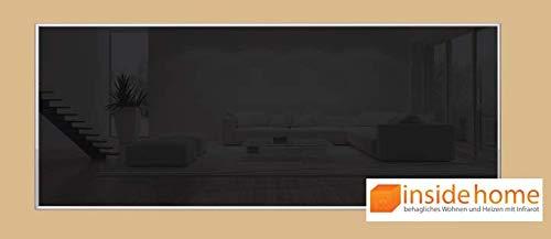 insidehome | Infrarotheizung Glasheizung ELEGANCE | Glas mit 10mm Alurahmen | deutsche Top - Qualität | 210 – 1400 Watt | Farbe: schwarz (1400 Watt - 200x80 cm)