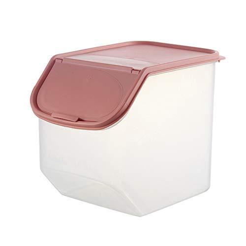 rongweiwang A Prueba de Humedad de Almacenamiento de arroz envase de plástico de Cocina Caja de Cereal de arroz Sellado Organizador Grano de Cereal de Grano Organizador