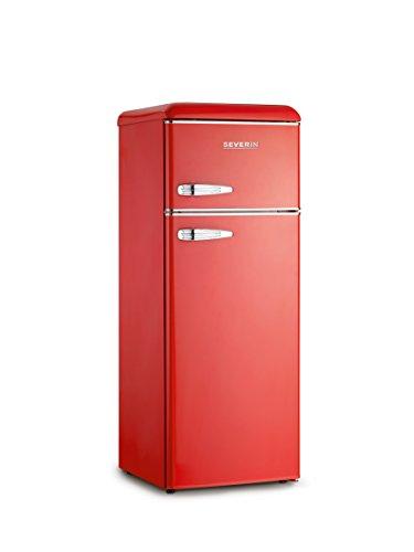 Severin KS 9955 frigorifero con congelatore Libera installazione Rosso 212 L A++