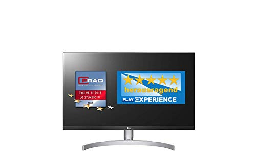 LG 27UK850-W 68,58 cm (27 Zoll) UHD 4K IPS Monitor (AMD Radeon FreeSync, HDR10, 99%sRGB), weiß - 4