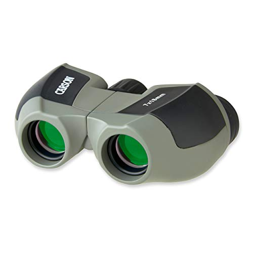 Carson MiniScout Binoculars, 7 x 18mm Compact Porro Prism