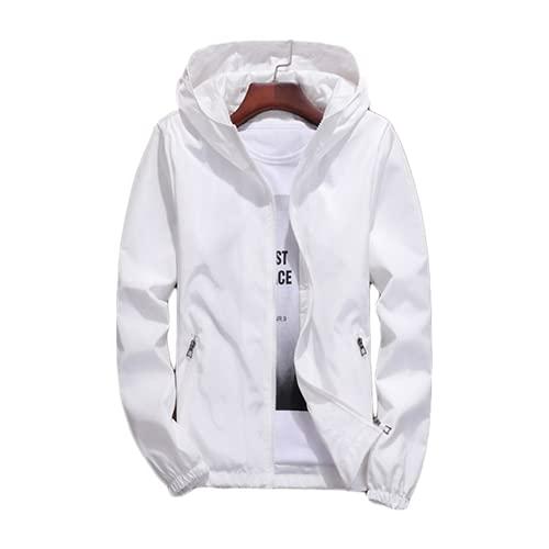 Chaqueta de las mujeres blanco más el tamaño flojo delgada pareja con capucha tops primavera otoño nuevo