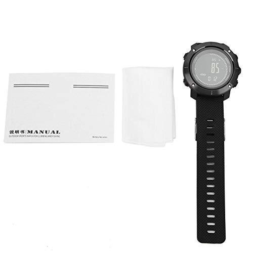 DAUERHAFT Cronómetro Profesional Digital Altímetro Cuenta atrás Temporizador Reloj Deportivo Reloj Multifuncional para Exteriores