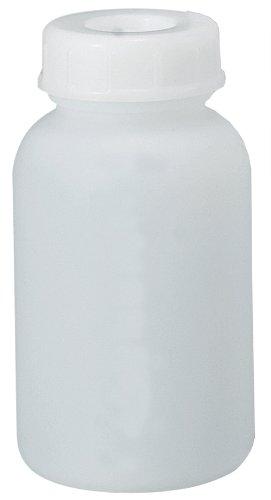 新潟精機 BeHAUS フロロバリアPEボトル広口ビン 中栓付 1000ml FLBW-1000