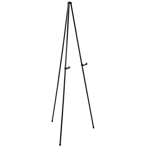 """Quartet Easel, Instant Easel Stand, Heavy-Duty, 64"""", Supports 10 lbs., Tripod Base (27E),Black"""