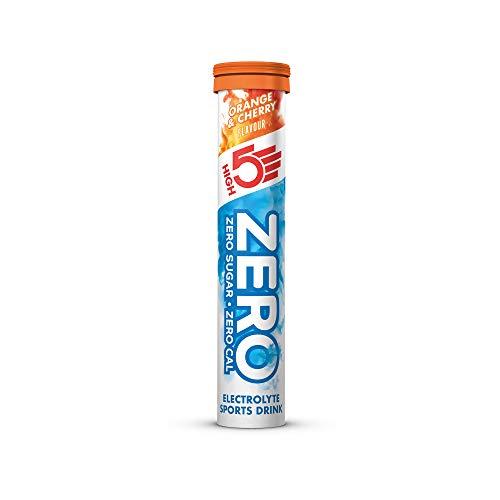 HIGH5 ZERO Electrolyte Hydration Tablets Added Vitamin C - (Orange & Cherry, 20 Tab Tube)