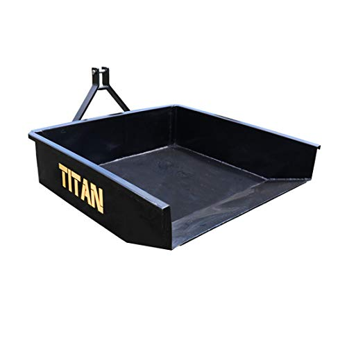 Titan Attachments 10 Cu. FT Quick Hitch Compatible Hydraulic Dump Box, Category 1, 3-Point, Landscaping Attachment
