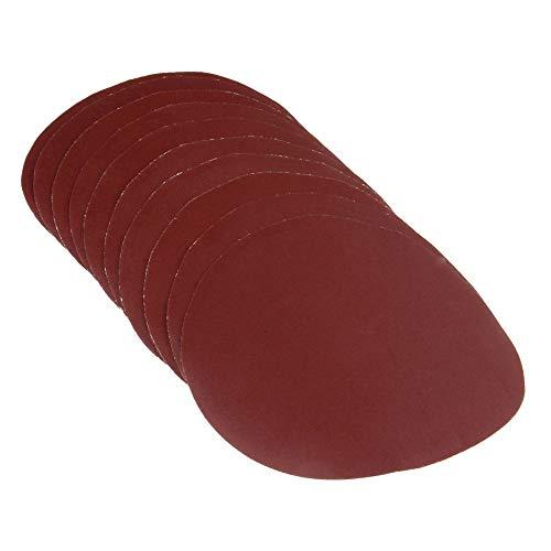 10Pcs 6inch 150mm Round Sanding Disc Sandpaper Disk Sand Sheets Grit 80/120/240 Hook & Loop Polishing Pad for Sander Grits,Grit 80