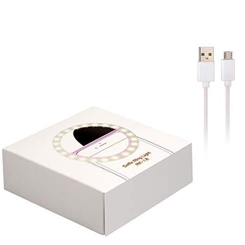 ETbotu oplaadbaar via USB-licht 36 LED camera selfie ring licht voor iPad Smartphone Selfie Eén maat Roze