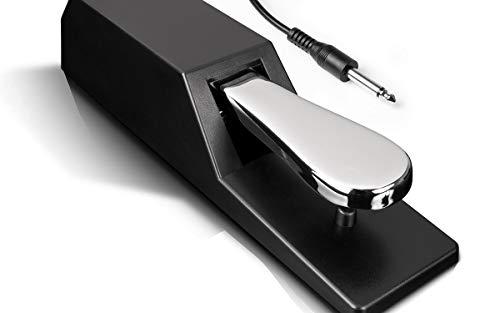 Alesis ASP-2 - Universelles Sustain-Pedal mit Piano-Style-Action für MIDI-Keyboards, Digitalpianos und mehr