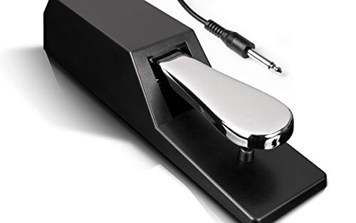 Alesis ASP2  Universal Keyboard Sustain Pedal for Synthesisers Digital Pianos MIDI Keyboards and more