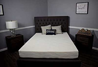 """American Mattress Company 8"""" Graphite Infused Memory Foam-Sleeps Cooler-100% Made in The USA-Medium Firm (48x75)"""