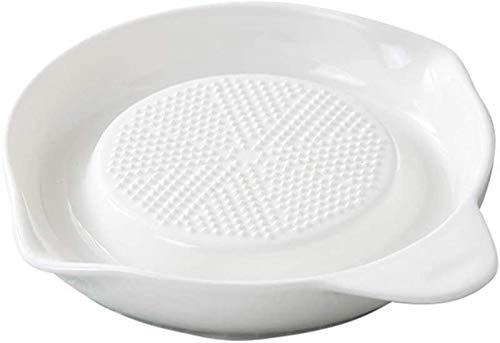 Cuenco de mezcla de barro resistente al chip Cereal irrompible cuencos, porcelana rallador de la placa de cerámica avanzada ajo del rallador de jengibre ajo Cebolla Cerámica creativa creativa de fruta