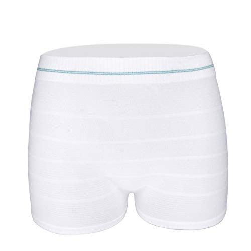 Women Mesh Postpartum Panties Washable Reusable Short Underwear for Post Surgical Recovery, Breathable, Stretchy, Light 6PACK-XL