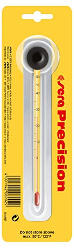 sera 08902 - Termómetro de precisión para acuario - Termómetro de cristal de alta precisión - Escala de 0 - 50 °C