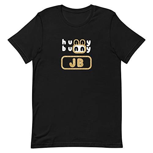 Very Designer JB Tshirt Cute Hunny Bunny Shirt | Kpop GOT7 Ahgase iGOT7 Merchandise Black
